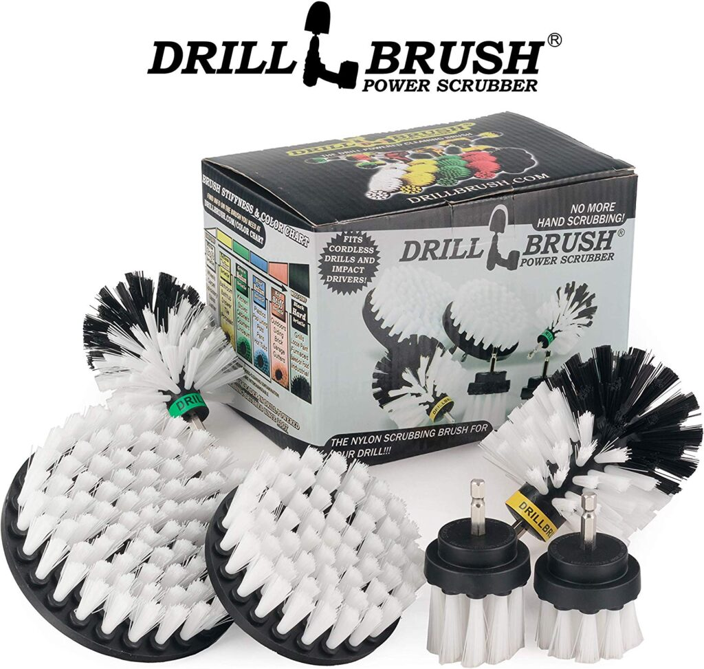 drill,brush,power,scrubber,bristle,soft,stiff,hard,long,short,hair,clean,car,interior,exterior,detailing